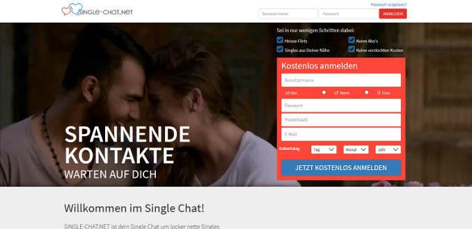 Kostenloser Singlechat auf Single-Chat.NET