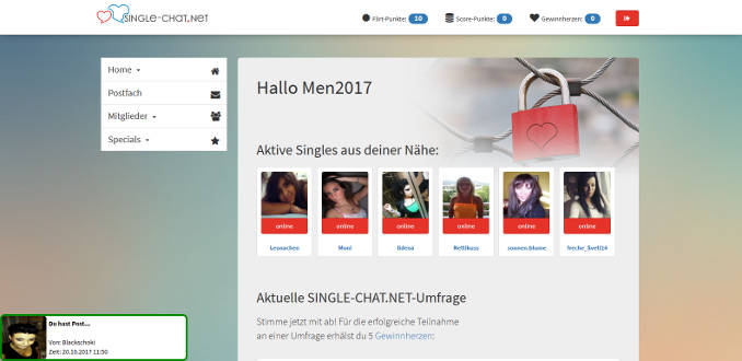 Online-dating ersten chat
